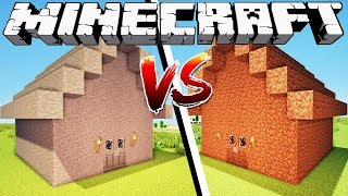 STONE HOUSE VS DIRT HOUSE - Minecraft