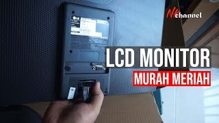 LG 19 Inch LED 19M38A-B (Analog) Unboxing | Monitor komputer murah meriah