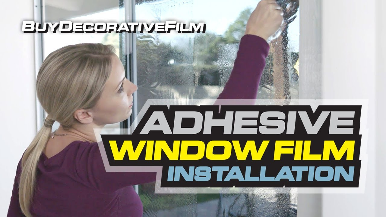 Self Adhesive Window Film Installation Guide by BDF BuyDecorativeFilm