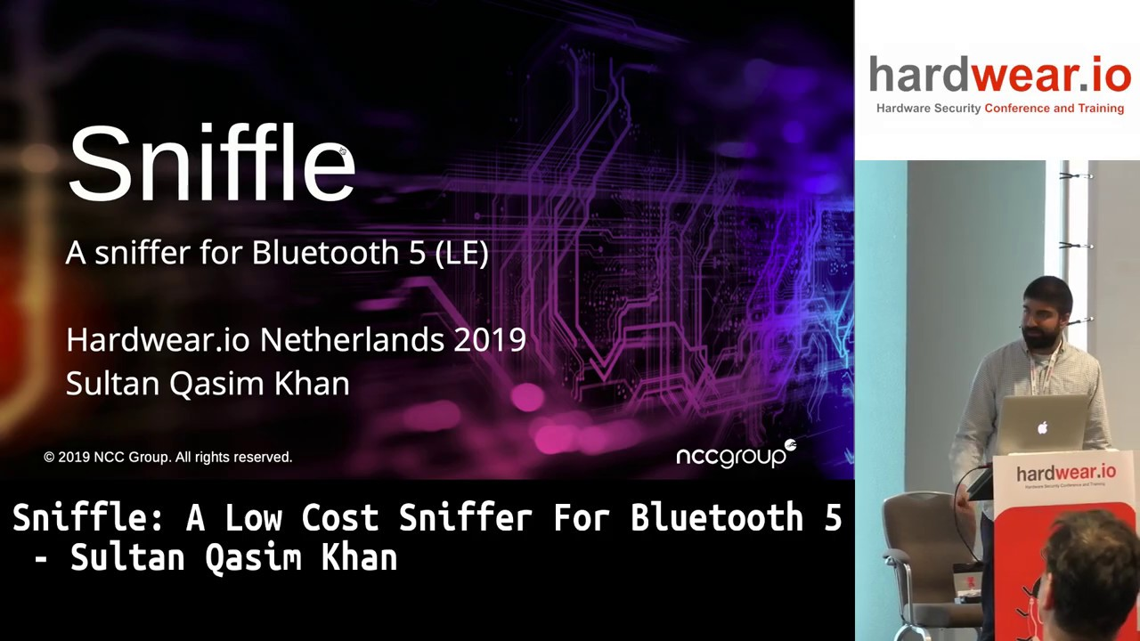 Sniffle A Low Cost Sniffer For Bluetooth 5 Sultan Qasim Khan Hardwear Io Netherlands 2019 Youtube