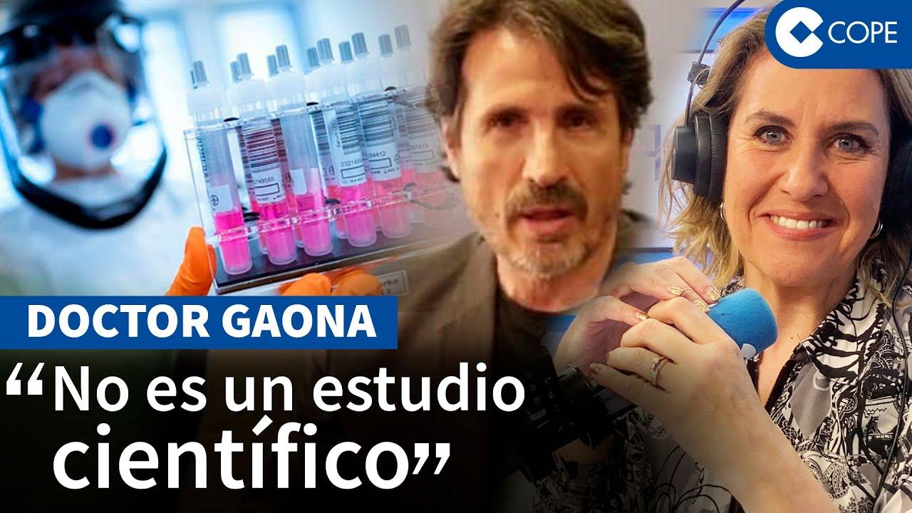 """DOCTOR GAONA, SOSPECHA VACUNA PFIZER """"Me ha mosqueado muchísimo"""" - Entrevista COPE"""