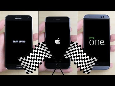 iPhone 6 vs. Galaxy S5 vs. HTC One (M8) Speed Test