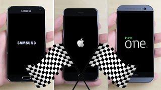 iPhone 6 vs. Galaxy S5 vs. HTC One (M8) Speed Test
