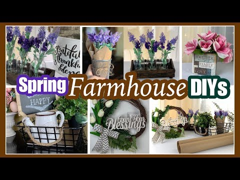 Dollar Tree Farmhouse DIYS | SPRING FARMHOUSE DECOR Ideas