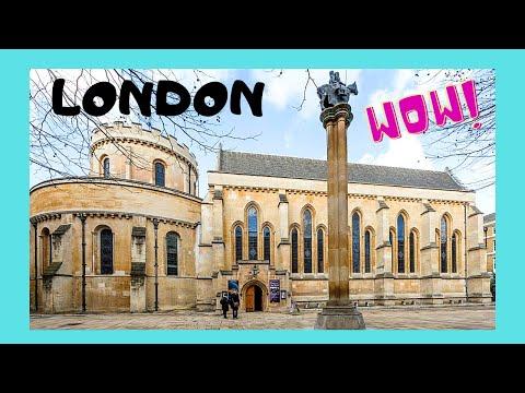 LONDON, the historic TEMPLE CHURCH (Knights Templar, from DA VINCI CODE)