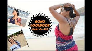 Beachy Boho / bohemian Lookbook Under Rs. 300 - Budget Lookbook