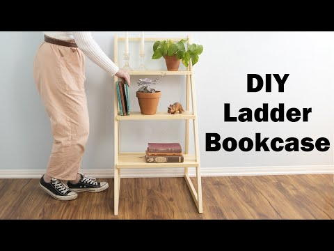 How To Make A Ladder Bookcase // DIY