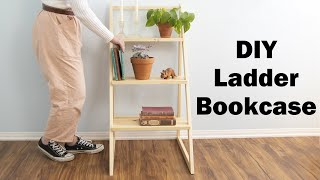 ladder bookcase // amazing woodworking DIY