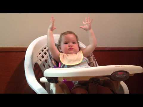 Toddler High Chair Dance Party