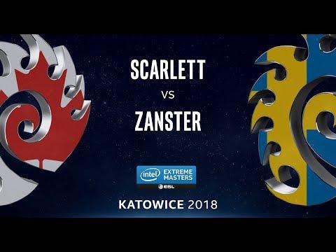 StarCraft II - Scarlett [Z] vs. Zanster [Z] - LB Semi - B2 - IEM Katowice 2018
