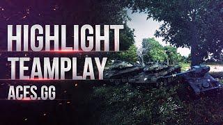 Highlights - взвод ЛТ в рандоме World of tanks 13-90, T49, T49