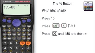 How to calculate percentages using the % button Casio Calculator Percentage fx-85GT PLUS fx-83GT