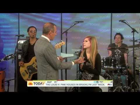 Avril Lavigne  What The Hell + Interview @  at Today Show 08032011