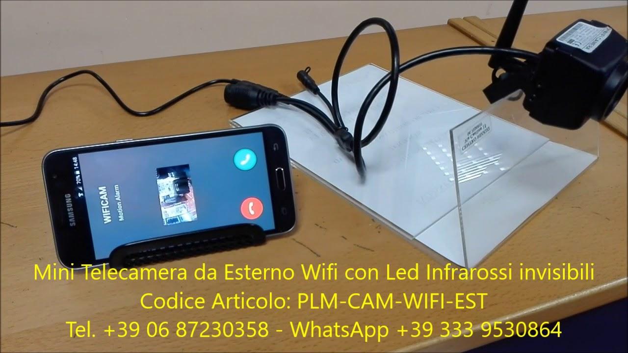 Telecamera Nascosta Da Esterno : Mini camera da esterno wifi con led infrarossi invisibili youtube