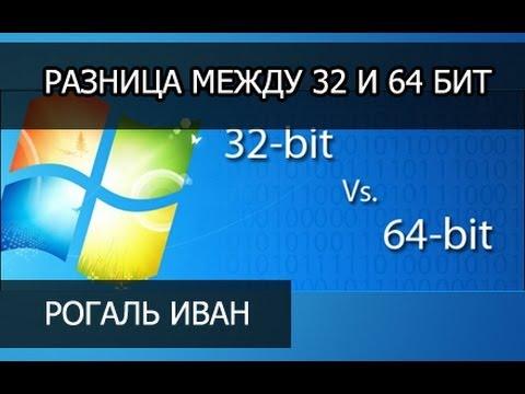Какая разница между 32 и 64 бит в Windows