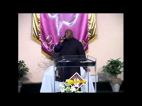 Bishop Avery Kinney ministering at Shiloh Abundant Life Center