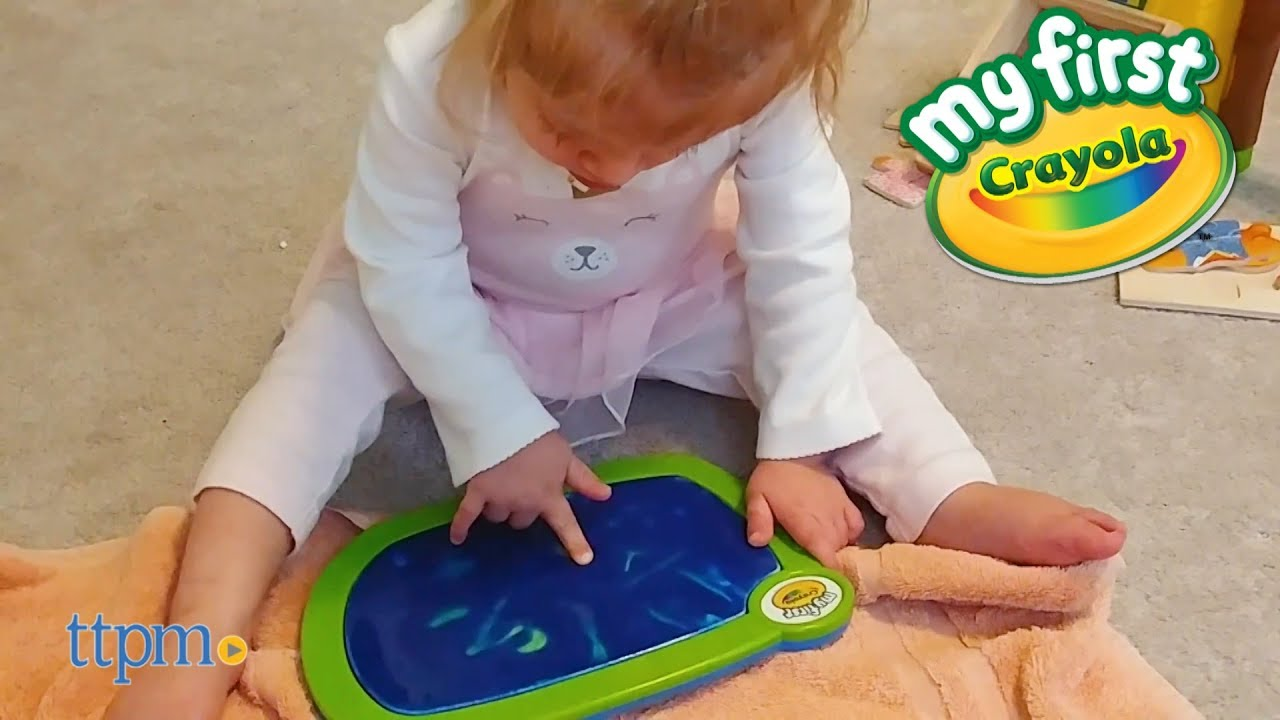 My First Crayola Double Doodle Board Mess Free Touch Lights From