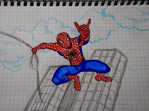 Как нарисовать Человека Паука #79 / How To Draw Spider Man / Ŧ�何绘制蜘蛛侠