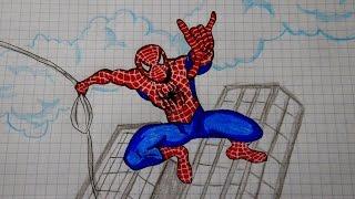 как нарисовать паука видео