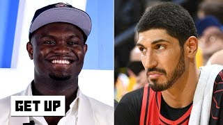 Enes Kanter calling Zion 'overhyped' is the 'dumbest comment I've ever heard' -Jay Williams | Get Up