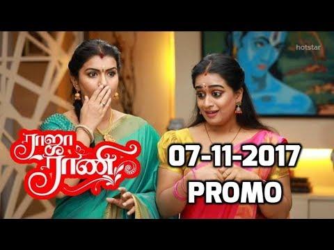 Raja Rani serial promo 07-11-2017 raja rani serial latest promo vijay tv