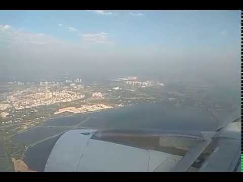 Wonderful view of Kolkata from Flight | Flight Landing in Kolkata Airport