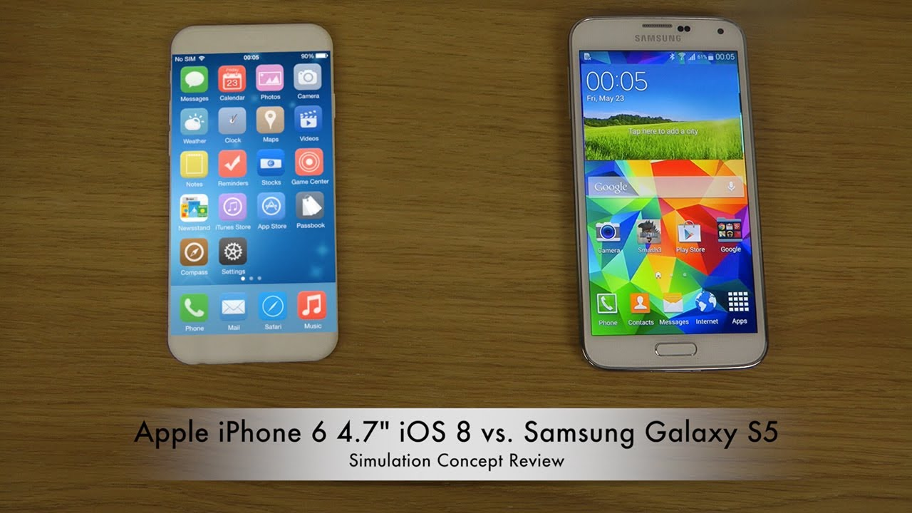 samsung galaxy s5 vs iphone 6 apple iphone 6 4 7 quot ios 8 vs samsung galaxy s5 19442