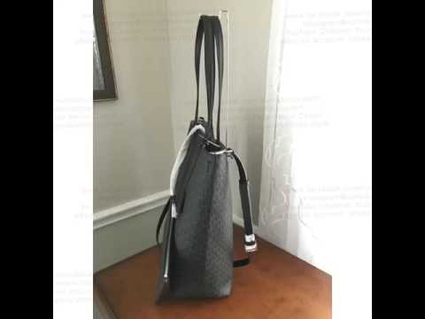 FROM MK BOUTIQUE LIFESTYLE STORE MICHAEL Michael Kors Large Hayley Bicolor Bonded Convertible Tote