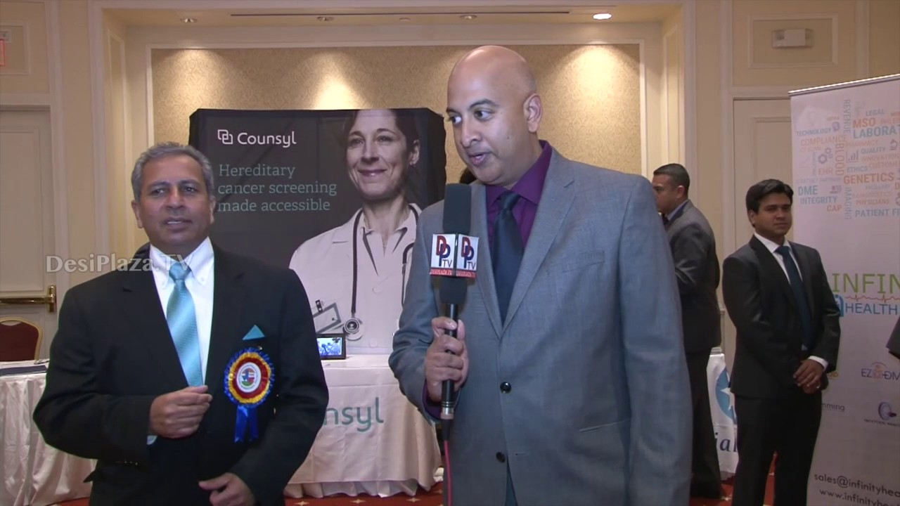 Dr.Nikhil Dayani speaking to Desiplaza TV at TIPS Banquet 2016.