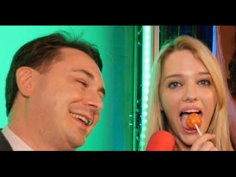 Kenna James licks a lollipop for Andrea Diprè
