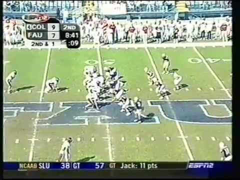 Colgate Florida Atlantic Football 2003 1st Half