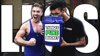 HIS FIRST LEG DAY: Will He Fill The Puke Bucket? (FULL WORKOUT INCLUDED)