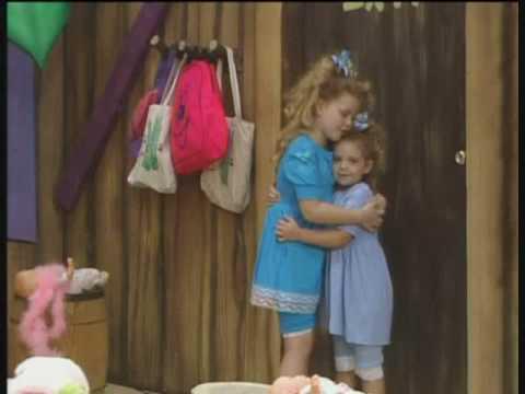 Kristy and Lindsey Landers as babies on PBS kids tv