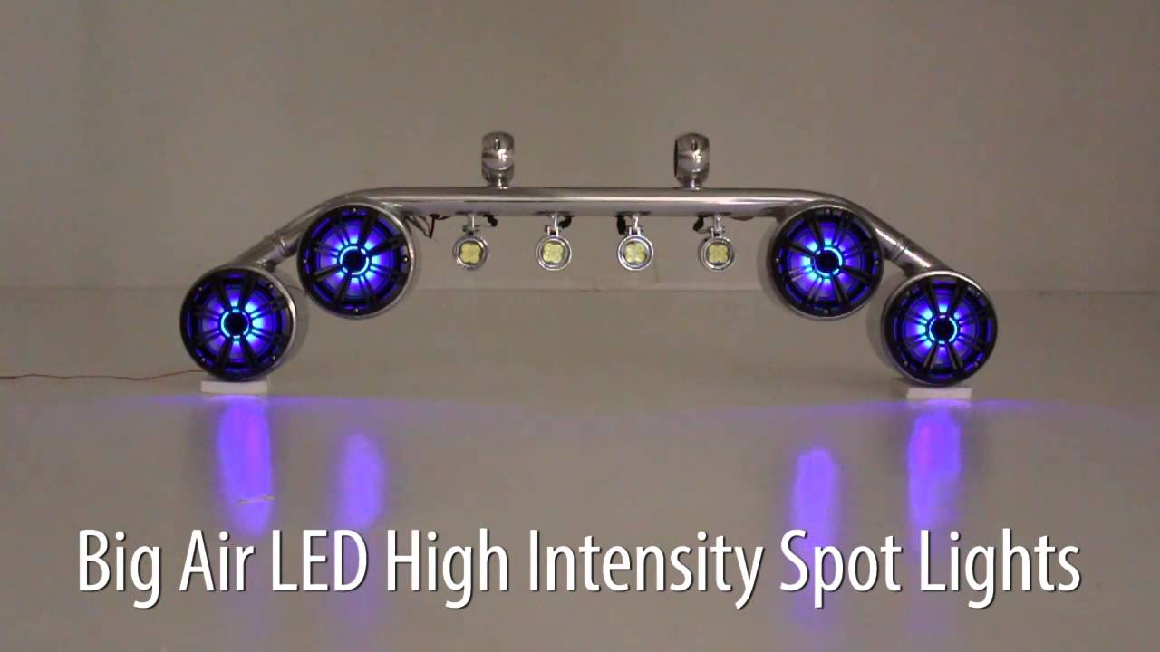 Speaker Amp Light Bar Combo W Led Speakers Big Air Wake