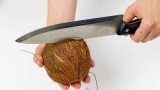 Как открыть кокос дома?- Фруктовый мастер - Fruitm