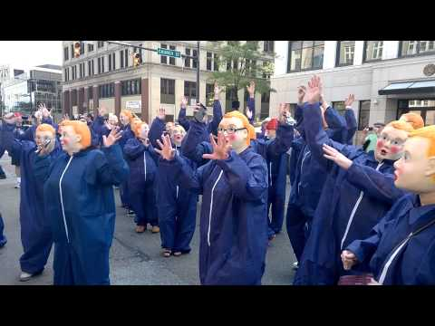 Booji Boy Clones Take The Streets of Akron, OH. 8/15/15