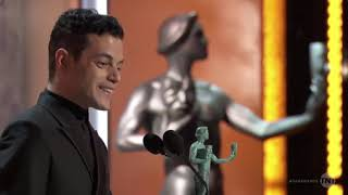 Rami Malek Accepts SAG Award Outstanding Performance by an Actor in a Leading Role 27 Jan 2019