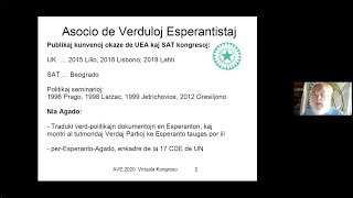 Manfred Westermayer, Asocio de Verduloj Esperantistaj (AVE)