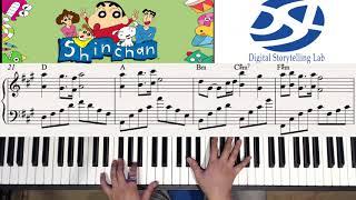 """[짱구는 못말려: 어른 제국의 역습 OST] """"히로시의 회상"""" 피아노 연주하기 (Piano by Seyong Han)"""