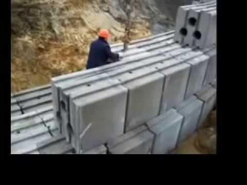 Geobloc innovativa soluzione per la costruzione di muri a for Un aggiunta di un box auto