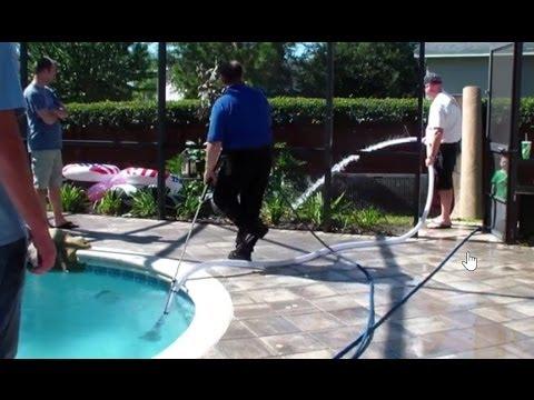Power washing pool doovi for Pressure clean pools