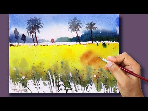 #26 Quick Watercolor Landscape Painting