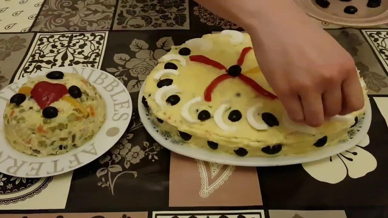 Salata De Boeuf Cu Piept De Pui Youtube