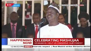 Raila confirms landing top job at African Union | #MashujaaDay2018