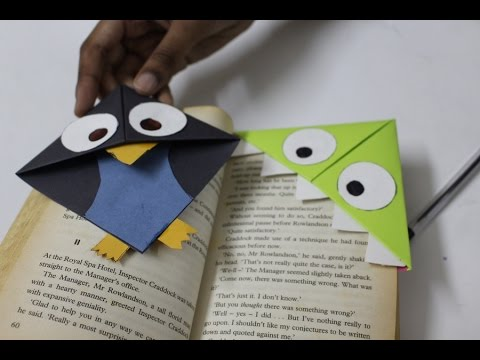 Bookmark crafts- Paper bookmark making tutorial- how to make