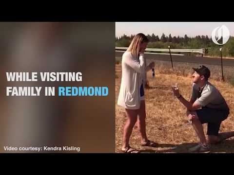 Couple gets totality engaged during eclipse