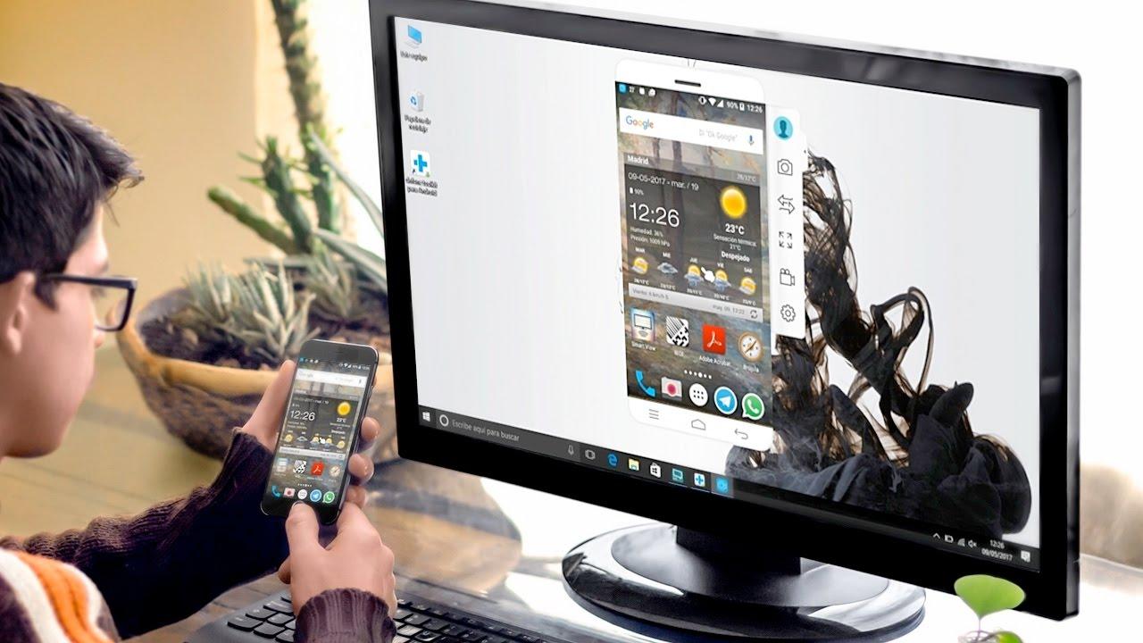 como proyectar la pantalla de mi android en mi pc