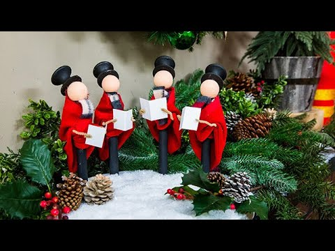 diy christmas carolers home family