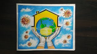 Drawing of Coronavirus/ Coronavirus Awareness Poster Drawing/Save earth from Coronavirus/#stayathome