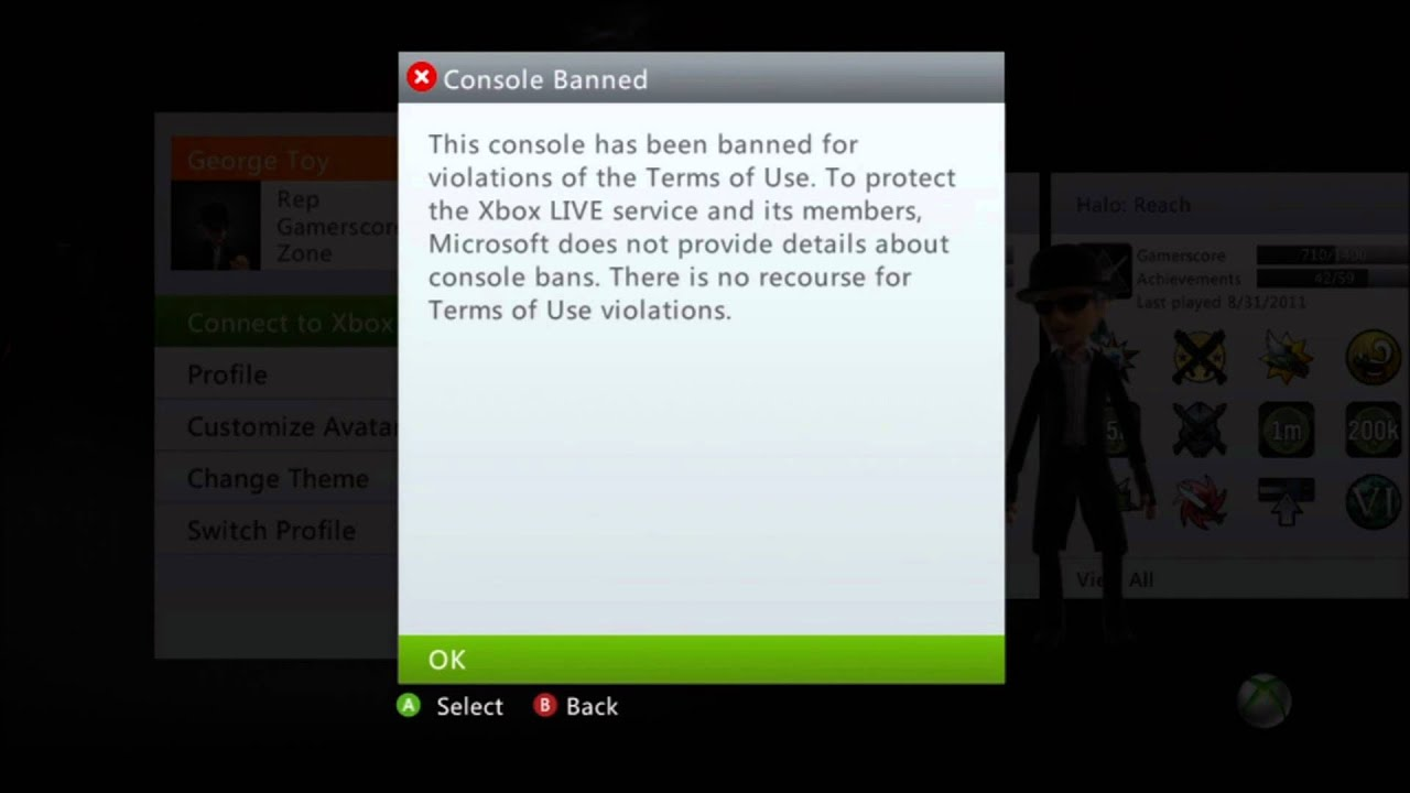 how to delete xbox profile from microsoft account